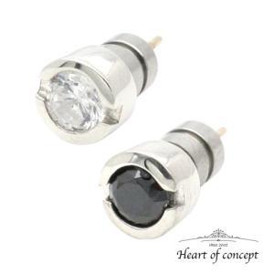 送料無料 シルバー ペアピアス ハートオブコンセプト プレゼント 誕生日 HCE-26CZ-HCE-26BKCZ|heart-of-concept