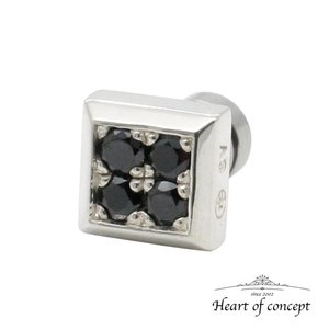 シルバー ピアス ハートオブコンセプト プレゼント 誕生日 HCE-45BKCZ|heart-of-concept