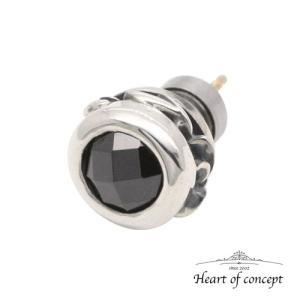 シルバー ピアス ハートオブコンセプト プレゼント 誕生日 HCE-48BKCZ heart-of-concept