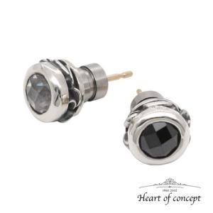 送料無料 シルバー ペアピアス ハートオブコンセプト プレゼント 誕生日 HCE-48CZ-HCE-48BKCZ|heart-of-concept
