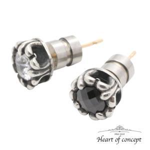 送料無料 シルバー ペアピアス ハートオブコンセプト プレゼント 誕生日 HCE-61CZ-HCE-61BKCZ|heart-of-concept