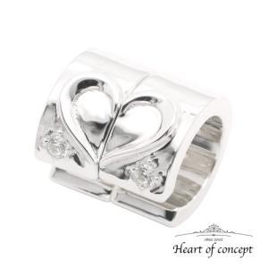 送料無料 シルバー ペアピアス シェアピアス ハートオブコンセプト プレゼント 誕生日 HCE-63L-HCE-63R|heart-of-concept