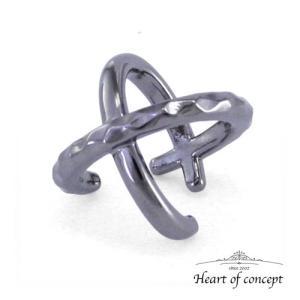送料無料 シルバー イヤーカフ ハートオブコンセプト プレゼント 誕生日 HCE-64BK|heart-of-concept