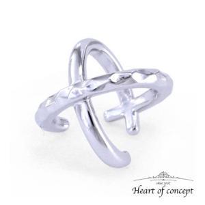 送料無料 シルバー イヤーカフ ハートオブコンセプト プレゼント 誕生日 HCE-64WH|heart-of-concept