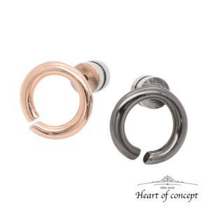 送料無料 シルバー ペアピアス シェアピアス ハートオブコンセプト プレゼント 誕生日 HCE-67PK-HCE-67BK heart-of-concept