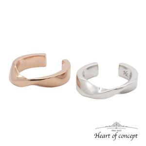 送料無料 シルバー ペアイヤーカフ ハートオブコンセプト プレゼント 誕生日 HCE-77PK-HCE-77WH|heart-of-concept