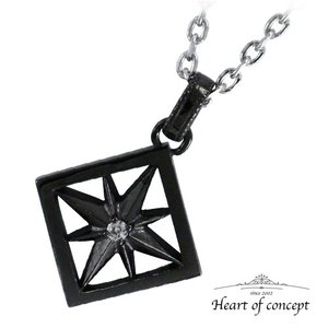 送料無料 シルバー ネックレス ペンダント ハートオブコンセプト プレゼント 誕生日 HCP-383BK|heart-of-concept