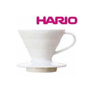 HARIO(ハリオ) V60透過ドリッパー01セラミックW VDC-01W|heartdrop