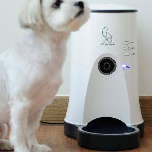 ペットステーション 給餌器 ペット 給餌機 カメラ付き自動給餌器 カメラ スマホ 遠隔操作 自動 自動給餌器 自動給餌機 エサ フード 給餌 犬用 猫用 ペット用|heartdrop