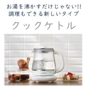 クックケトル SE6300 電気ケトル ガラス製ケトル ケトル 湯沸し プレゼント付