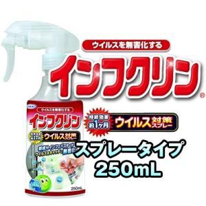 インフクリン 250mL 除菌剤 ウイルス対策スプレー ウイルス対策 スプレー ドアノブ 手すり 便座 蛇口ハンドル スイッチ リモコン グッズ おすすめ 人気|heartdrop