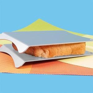 【解凍ハサミン ファイン 2枚セット】シンプルなアルミのプレートがあら不思議!?凍った食材を2枚のプ...