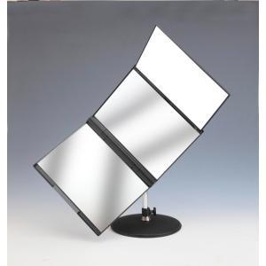 NEWスリーウエイ回転ミラー MX-360ZS 卓上ミラー 卓上鏡 三面鏡 鏡 ミラー 回転ミラー 回転三面鏡 360度 回転 卓上 大型 後頭部 チェック|heartdrop
