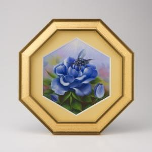 【開運アート 幸せの青い蜂 ブルービー】その希少性から目にしただけで幸運を呼ぶとされる青い蜂(ブルー...