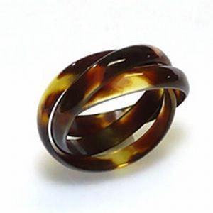 匠の本べっ甲3連リング 指輪 リング べっ甲 べっ甲リング べっ甲指輪 ハンドメイド レディースアクセサリー ジュエリー アクセサリー 伝統工芸 手作り グッズ heartdrop