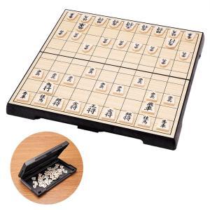 手軽に楽しむ!コンパクト将棋。駒の内部に磁石が内蔵されているので、駒がずれにくく、指しやすい!旅先の...
