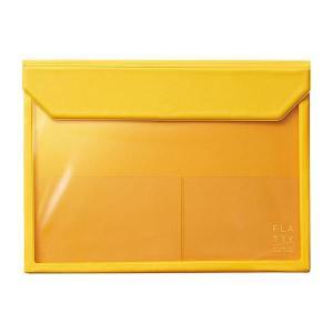 かさばらないバッグインバッグ フラッティ A4ヨコ 黄 5366