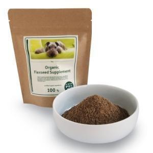 made of Organics for Dog オーガニック フラックスシード サプリメント(粉タイプ) 100g ペットのケア用品|heartland2006