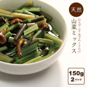 山菜ミックス水煮 山形県産 山菜加工品 2パック(150g×2) 田舎のごちそう 送料無料|heartlandfarm