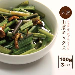 山菜ミックス水煮 山形県産 山菜加工品 3パック(150g×3) 田舎のごちそう 送料無料|heartlandfarm