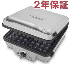 【2年保証】 Cuisinart クイジナート ワッフルメーカー角4型&パンケーキ・プレート付き WAF-300 脱着式プレート交換可能モデル|heartlandtrading
