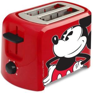【2年保証】 Disney ディズニー ミッキー・マウス 2枚焼きトースター  (赤) DCM-21 heartlandtrading