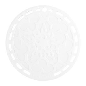 Le Creuset ル・クルーゼ シリコン・トリベット 鍋敷き (ホワイト) 20×20cm heartlandtrading