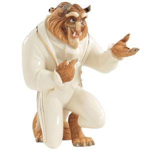 Lenox レノックス ディズニー・フィギュア 美女と野獣の王子 My Hand My Heart Figurine  24Kアクセント白磁フィギュア|heartlandtrading