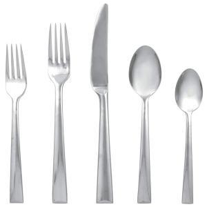 Lenox レノックス カトラリー5点セット Continental Dining テーブルウェア(ナイフ・フォーク・スプーン)一揃い|heartlandtrading