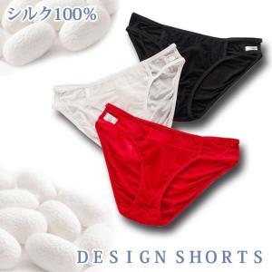 シルク ショーツ メッシュ 紐パン デザイン りらくシリーズ silk 大きいサイズ ゆったり 絹 下着 パンツ|heartlife