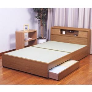 棚照明引出付畳ベッドA151セミダブル/ライトブラウン heartmark-shop