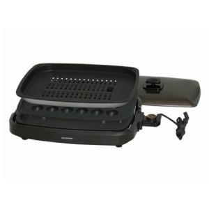 IRIS/アイリスオーヤマ ホットプレート 3枚 (たこ焼きプレート・焼肉プレート・平面プレート) ブラウン APA-135-T|heartmark-shop