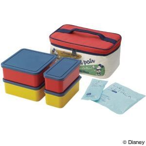 SKATER/スケーター ピクニックランチボックス  お弁当箱  保冷バッグ付  行楽ランチセット  ミッキーマウス  バッジコレクション heartmark-shop