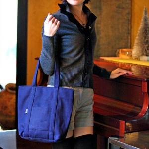 SASICCO 日本製  柔道着の生地を使用した三河木綿バッグ トート50 紺紫 正規品|heartmark-shop