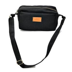 SASICCO 日本製  柔道着の生地を使用した三河木綿バッグ ミニショルダー 黒 正規品|heartmark-shop