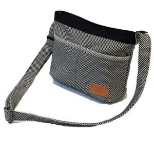 sasicco 日本製  柔道着の生地を使用した三河木綿バッグ タイニーショルダー 消防刺子|heartmark-shop