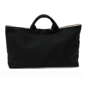 sasicco 日本製  柔道着の生地を使用した三河木綿バッグ 舟形トート 黒|heartmark-shop