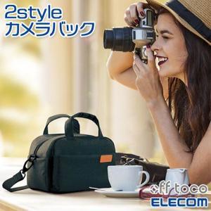 【ELECOM/エレコム】 off toco オフトコ 一眼レフ/ミラーレスカメラ用 ショルダーバッ...