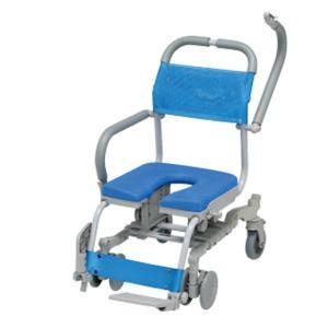 ウチエ シャワーラク4輪自在 SWR-132 U型シート介護 お風呂 シャワーキャリー 入浴 車イス 椅子|heartpenguinshop