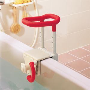 アロン化成株式会社 安寿 高さ調節付浴槽手すり 浴室用手すり UST-130介護 入浴手すり 浴槽手すり グリップ 移乗 入浴介助 高さ調節|heartpenguinshop