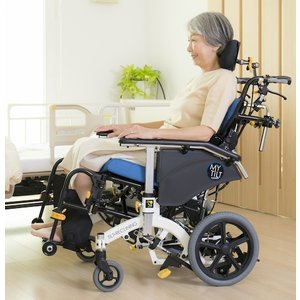 松永製作所 マイチルト・ミニ3D リフトアップ - MH-SRL (ティルト・リクライニング車いす)車椅子 個別 折りたたみ コンパクト スリム heartpenguinshop