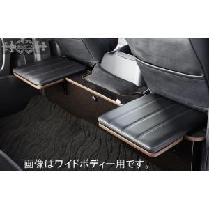 200系ハイエース 対面 リアデッキテーブル 座席マット付 ナロー(標準)ボディー用|hearts-hiace