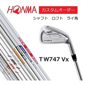 HONMA ホンマ TOUR WORLD TW747Vx アイアン 6本セット(#5〜#10)【カスタムオーダー】DG/NS/MODUS/ZELOS/XP|heartstage