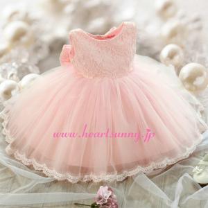 子供ドレス ワンピース ピンク/ホワイト 長袖/袖なし 選ばれる3スタイル F042 heartsunny