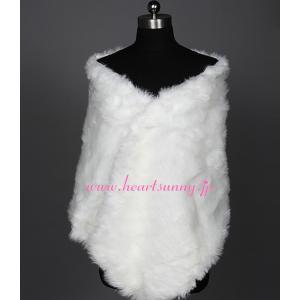 結婚式ボレロ 秋冬フェイクファーストール 両面ファーショール 防寒対策 羽織り P001|heartsunny