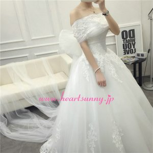 結婚式ボレロ 花柄レースストール ソフトチュールロングリボン P045 heartsunny