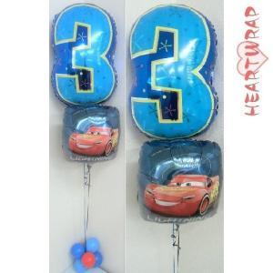 ☆お子さんやお孫さんへのお誕生日のお祝いに☆ 記念撮影やパーティーの装飾にも最適です♪  ヘリウムガ...