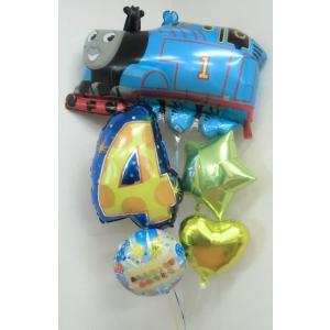 バルーン 誕生日 バルーン電報 バースデー 機関車トーマス 年齢用数字バルーン付き|heartwrap