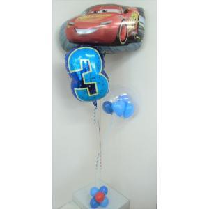 バルーン 誕生日 数字 バルーン電報 バルーンギフト カーズ ディズニー 選べる数字|heartwrap
