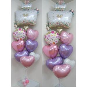 バルーン・誕生日・バルーンギフト お誕生日バルーンセット バースデー・男の用・女の子用・1歳用・レターバナー付き|heartwrap